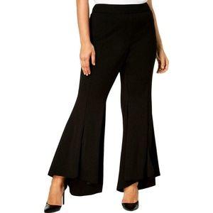 INC Women's Black Flare High Low Dress Pants